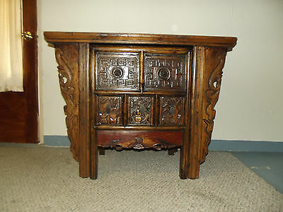 Hand carved Wood Computer Desk with chair