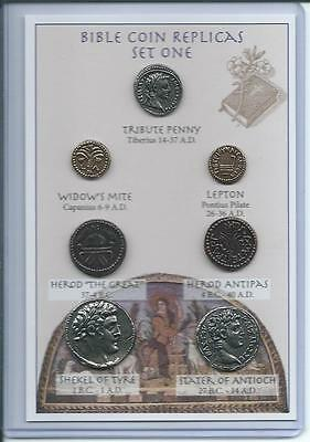 Set #1 of Bible Coin Replicas Replicas - can be used as an Educational Resource!