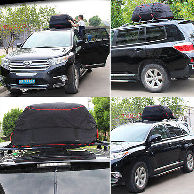Universal Car Roof Bag Waterproof Roof Rack For Storage Cargo Luggage Bag Travel