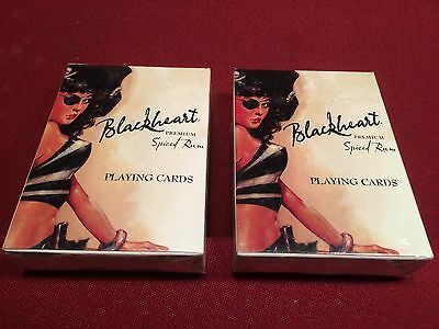 2 Blackheart Spiced Rum Liquor Playing Cards