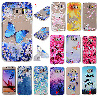 New Shockproof Rubber Patterned Silicone Painted Soft TPU Cover Case For Samsung