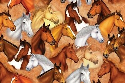 Tree Free Horse Heads Pack of 6 Greeting Cards & Envelopes