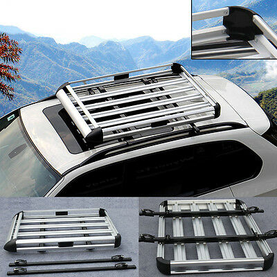 New Portable SUV Car Roof Tray Platform Rack Carry box Luggage Carrier Travel