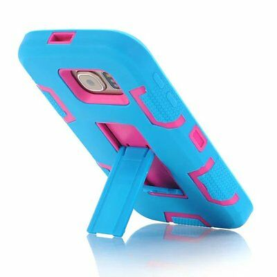 Bocov Blue/Hot Pink Shockproof COMBO Cover & Holster Case For Samsung Galaxy S7