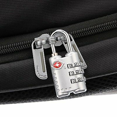 Silver TSA Lock 3 Digit Combination For Travel Safety and Security Luggage Lock