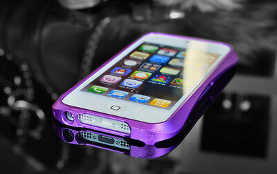 Case for Apple iPhone 5 Alu Bumper Frame Deff Cleave Film Screen Protector