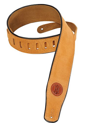 Levy's Leathers Suede Leather Guitar Strap,Honey