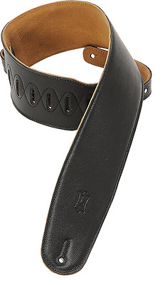 Levy's Leathers M4GF-BLK 3-1/2-inch Garment Leather Bass Guitar Strap with Foam
