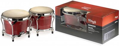 Stagg BW-200-CH 7.5-Inch and 6.5-Inch Wood Bongos