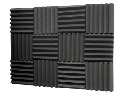Silverback Sound Dampening Foam, 2 Inch Thick, 1ft x 1ft, 12 Pack