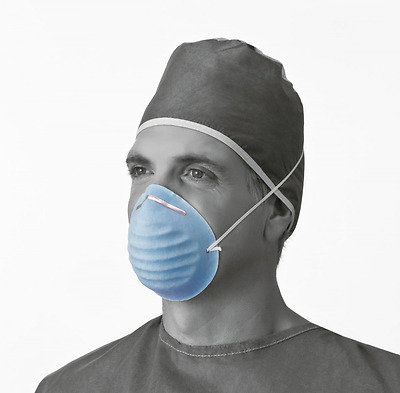 Medline Industries NON27381 Surgical Face Mask, Cone-Style, Latex Free, Blue (Pa