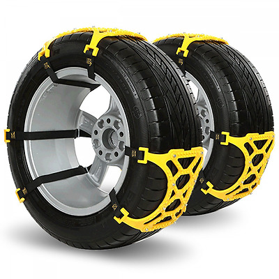 Anti Snow Tire Chains of Car(6-Pack),Popsky Universal Easy to Install Tire Chain