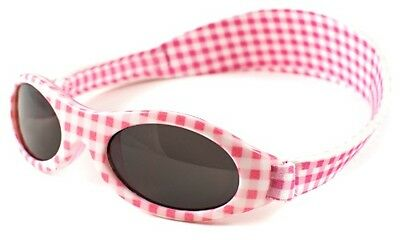 Baby Banz Adventure Banz Infant sunglasses - Pink Check for ages 2 Months - 2 Ye