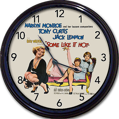 Marilyn Monroe Some Like it Hot Poster Wall Clock Tony Curtis, Jack Lemon New
