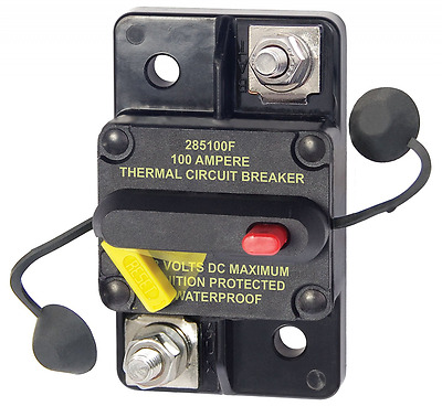 Blue Sea Systems 285-Series Surface Mount 100A Circuit Breaker