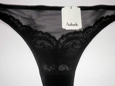 *** String Aubade 38 Neuf Noir Pulp Seduction Invisible S Slip Tanga  2 ***