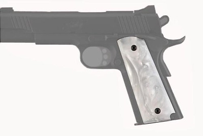 Hogue HO45318 Government Model Pearlized-Polymer Ambidextrous Safety Cut Grips,