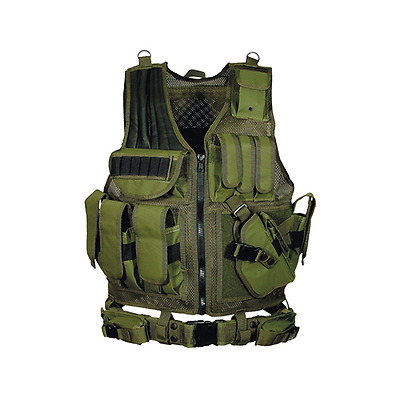 UTG Tactical Vest with Elastic Shot Shell Cartridge Holder, OD Green Green