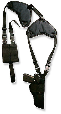 Bulldog Cases Deluxe Shoulder Harness with Holster and Ammo Pouch Vertical Fits