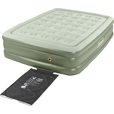 Coleman Company Queen Double High Qucikbed Airbed, Green