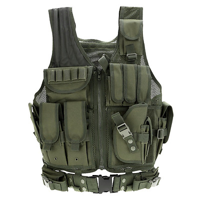 docooler Outdoor Military Tactical Army Polyester Airsoft War Game Hunting Vest