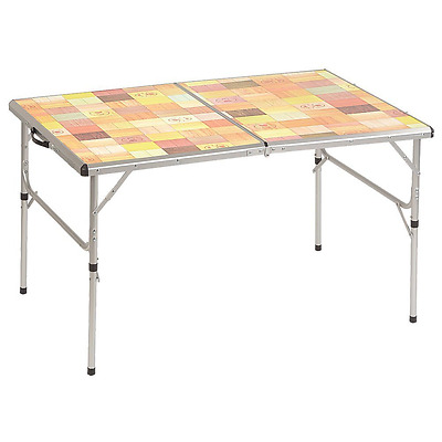 Coleman Company Pack-Away Outdoor Folding Mosaic Table, Silver