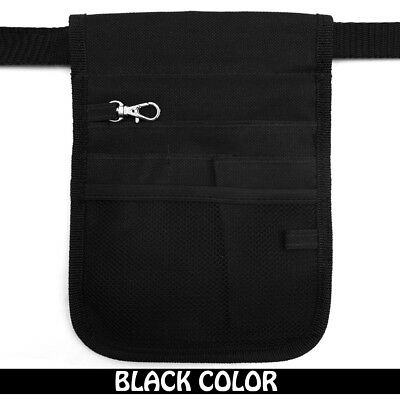 Nurse Vet  Physio Teacher Medical Professions Waist Belt Pouch Bag - Black