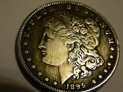 1895 Morgan Dollar Two Face Coin
