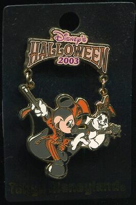 TDL Tokyo Halloween 2003 Mickey Dangle Disney Pin 25226