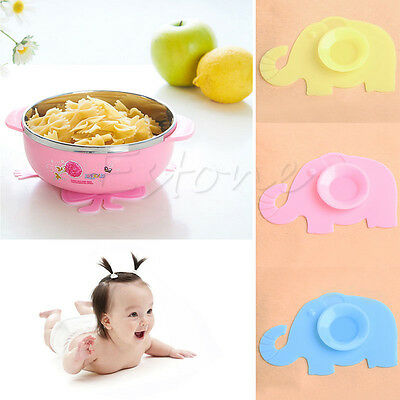Non-slip Baby Kids Silicone Bowl Meal Mat Suction Pad Tableware Sucker Sticker