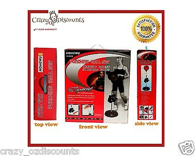 Standing Boxing Gloves Punch Bag Speed Ball Training Punching Stand Pump Free Ne