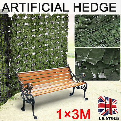 NEW Artificial Ivy Leaf Screening Hedge Wall Cover Garden Outdoor Fence 1m * 3m