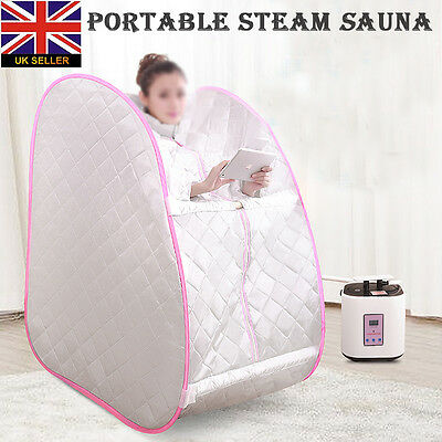 Pink Portable Steam Home Sauna Spa Bath Heater Beauty Weight Loss Slimming