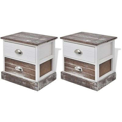 Side Tables For Bedroom Pair Bedside Cabinets Drawer Set of 2 Cheap Nightstands