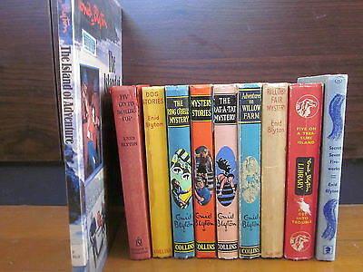 Bulk Lot of 10 x Enid Blyton MYSTERY ADVENTURE Vintage Books FAMOUS 5, SECRET 7