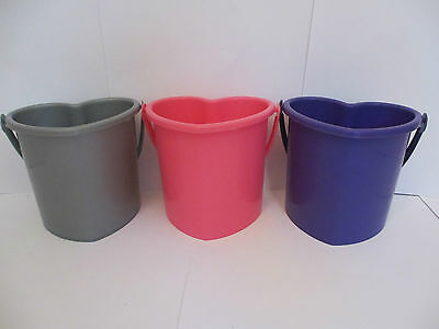 Set of 2 X Small Heart Shaped Baby Buckets /Party Bag /Gift/ Xmas/Wedding Favour