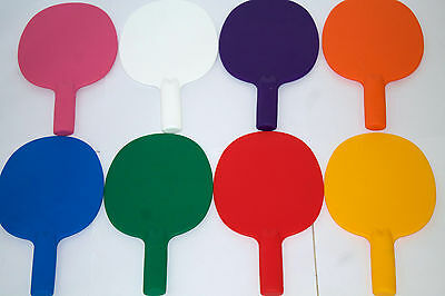 2XRobust plastic table tennis bats/ping pong/Auction/Quiz Game paddles-UK Made