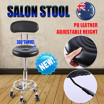 2018 Salon Stool Swivel Backrest Hairdressing Barber Chair Beauty Hydraulic Lift
