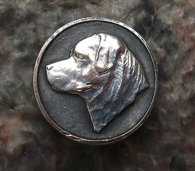 Antique Rottweiler Dog Breed Breeders Owners Club Members Dog Head Pin Badge