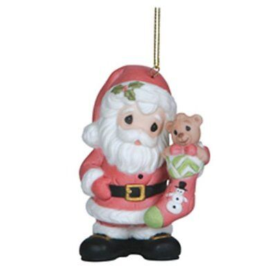 Precious Moments Santa Filled with Christmas Joy Ornament Tree Ornament #121024