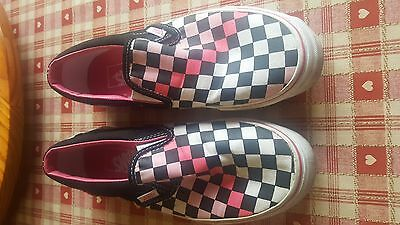 Women's Vans Shoes (UK size 4) (Colour - White, Pink and Black)