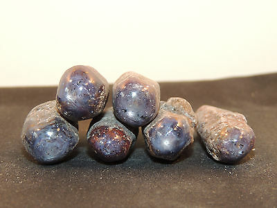 Star Sapphire Crystals Purple Color 1/4 pound  6  pieces (11831)