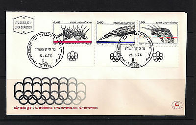 Israel  Stamps 1976 Olympic Games Montreal Fdc Envelope