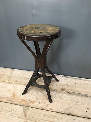 Vintage Industrial Evertaut Machinists Factory Stool - Brooks