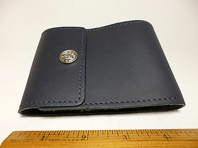 North Star Navy End Stub Leather Checkbook Cover-Factory Second-Made In USA #134