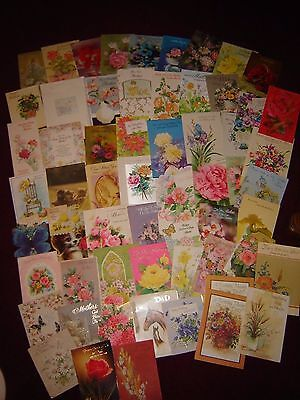 Lot of 60 Vintage Used Cards - Mom & Dad Mothers Day Fathers Day Birthday Crafts