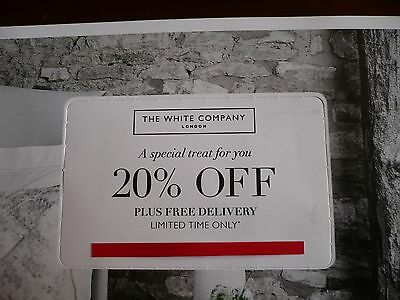 The White Company 20% Off Discount & Delivery Voucher Exp 30/04/17