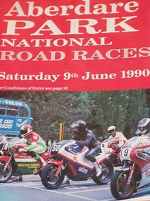 Programme Aberdare Park National Road Races Sat 09/06/1990. Good Used Condition