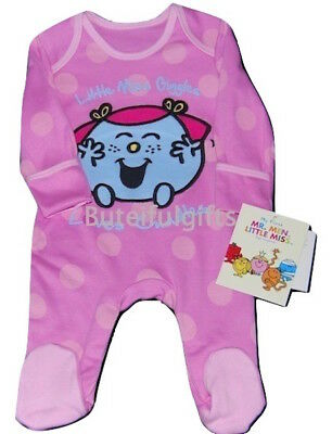 Baby Girl's Little Miss Giggles Pink All in One Sleepsuit Romper 0-3 Month