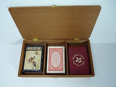 3 Packs Of Vintage Playing Cards In Presentation Box.